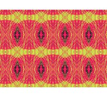 Lemon and red abstract. Photographic Print