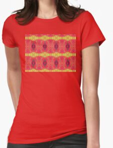 Lemon and red abstract. Womens Fitted T-Shirt
