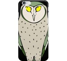 Handsome Green Owl on Black iPhone Case/Skin