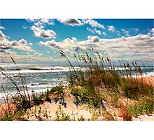 FALL DAY AT THE BEACH Photographic Print