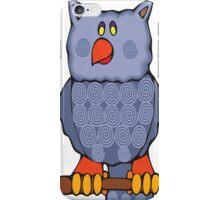 Happy Swirly Owl on Black iPhone Case/Skin