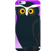Brown Owl With Purple Background iPhone Case/Skin