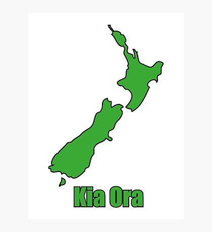NZ Kia Ora Photographic Print