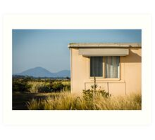 Fibro-cement home with a view Art Print
