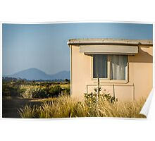 Fibro-cement home with a view Poster