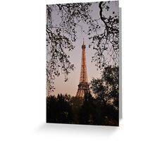 Effel Tower by Sunset2 Greeting Card