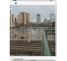 A horse in the suburb iPad Case/Skin