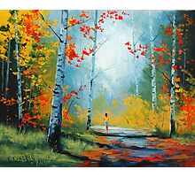 Autumn Stroll Photographic Print