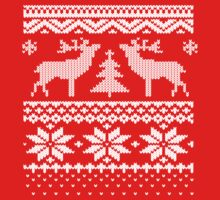 Ugly Sweater Christmas T Shirt One Piece - Long Sleeve
