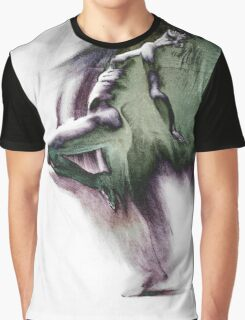 Fount i, conté drawing - textured   Graphic T-Shirt