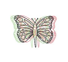 Butterfly 3D Photographic Print