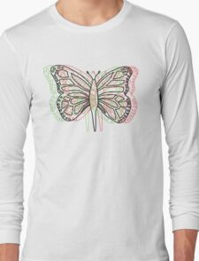 Butterfly 3D Long Sleeve T-Shirt