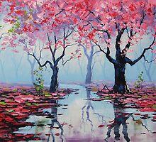 Misty Blossom Trees by Graham Gercken