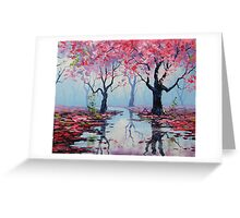 Misty Blossom Trees Greeting Card
