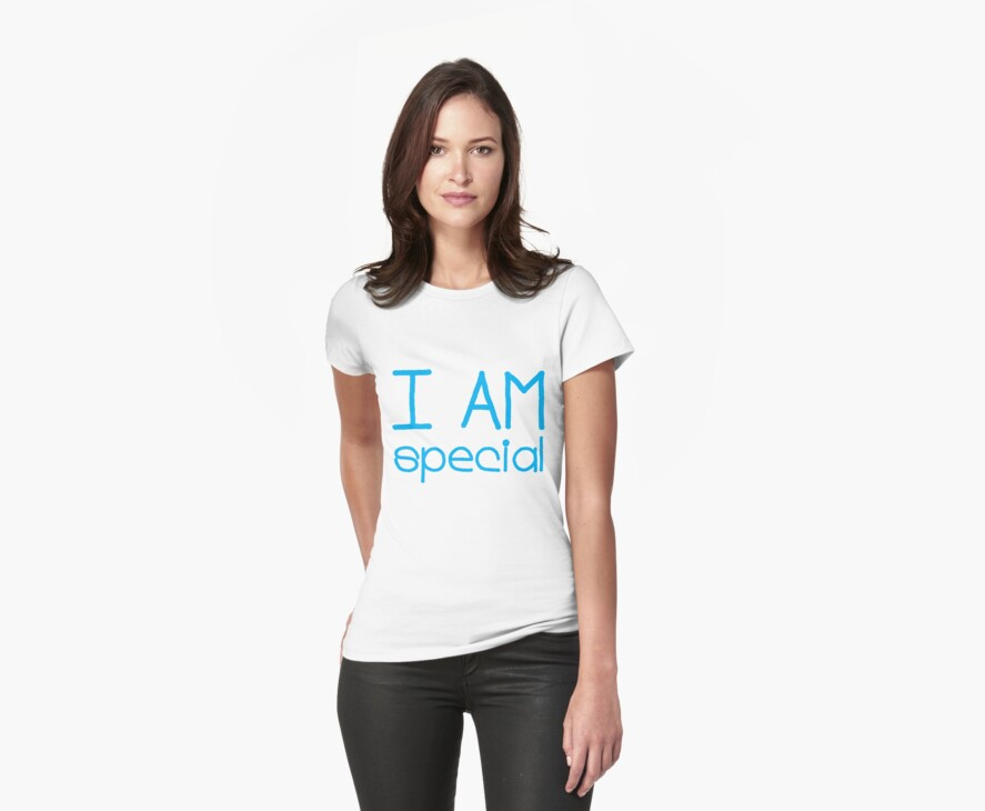 I AM SPECIAL - blue by Kidfirmations