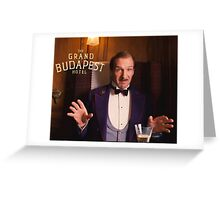 The Grand Budapest Hotel : M. Gustave Greeting Card