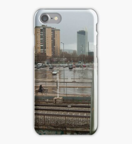 A horse in the suburb iPhone Case/Skin