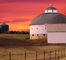 Round Barn Round Bales by Randy Branham