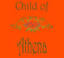 Child of Goddess Athena Greek Demigod Wisdom Kids Tee