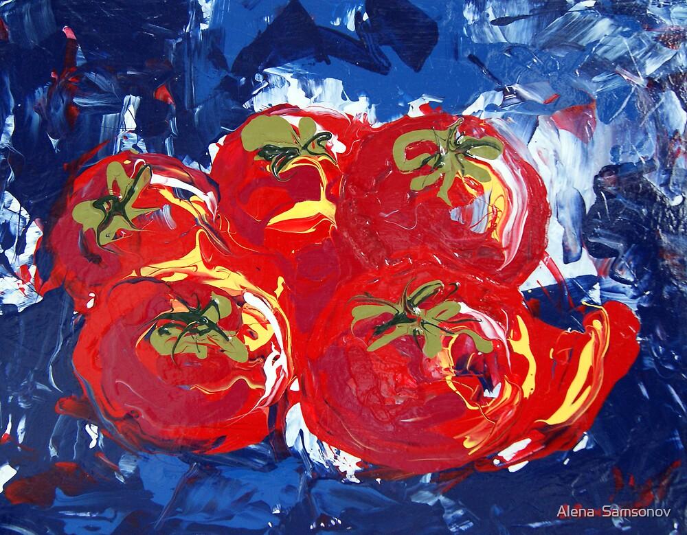Tomatoes by Alena  Samsonov