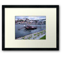 OPORTO:PORT BARGE Framed Print