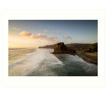 View from the top , Piha Art Print