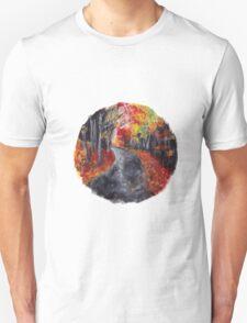 autumn path nature circle T-Shirt