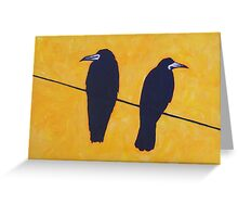2 Rooks, 1 Wire Greeting Card