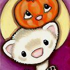 Ferret, Pumpkin, Moon by Shelly  Mundel