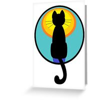 Sunrise Sunset Cat Greeting Card