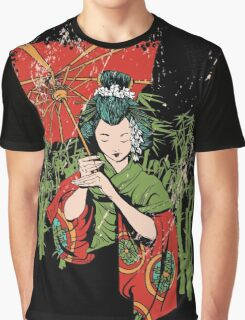 Traditional Geisha Design Graphic T-Shirt