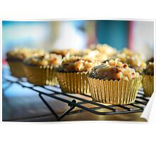 German Chocolate Cupcakes - RylieCakes Bakery Poster