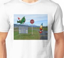 Noddy and Big Ears at the Airport Unisex T-Shirt