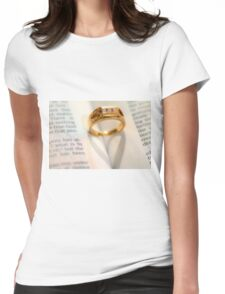 Heart Ring Womens Fitted T-Shirt