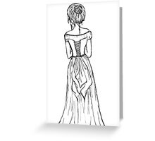 Lady in a Corset Greeting Card