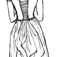 Lady in a Corset Sticker