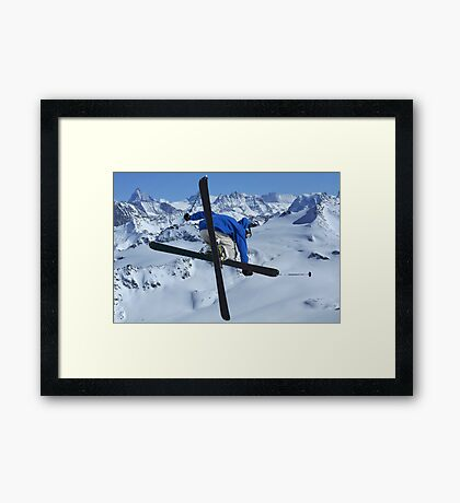 High mountains high jump Framed Print