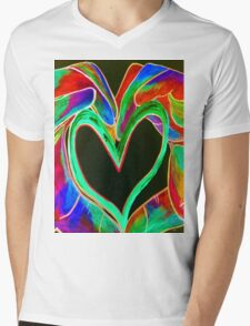 Universal Sign for LOVE Mens V-Neck T-Shirt