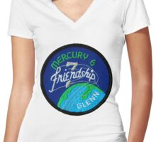 Mercury-Atlas 6 (Friendship 7) Mission Logo Women's Fitted V-Neck T-Shirt