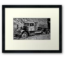 Logging Truck Framed Print