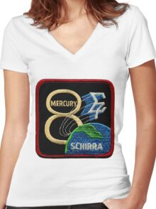 Mercury-Atlas 8 (Sigma 7) Mission Logo Women's Fitted V-Neck T-Shirt