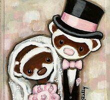 Ferret Wedding by Shelly  Mundel