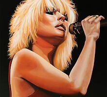 Deborah Harry or Blondie painting by PaulMeijering
