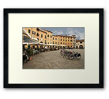 Lunch time in Lucca Framed Print