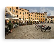 Lunch time in Lucca Canvas Print