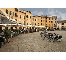 Lunch time in Lucca Photographic Print
