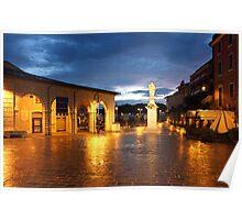 Piazza Malvezzi in Desenzano del Garda Poster