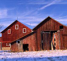 Double Barns Snow Cold by Randy Branham