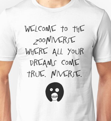 The Mighty Boosh – Welcome to the Zooniverse (Black) Unisex T-Shirt