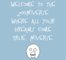 The Mighty Boosh – Welcome to the Zooniverse (White) One Piece - Short Sleeve